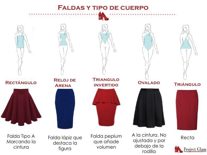 Potencia tu figura seleccionando la falda ideal para tu tipo de cuerpo. #tiposdecuerpo