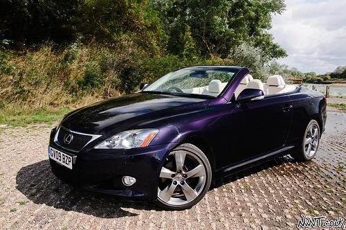 Lexus IS Convertible Purple is sexy!