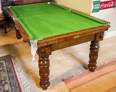 DINNER TABLE TURNED INTO A POOL TABLE !!!  Ideas for repurposing an antique dinner table - Google Search