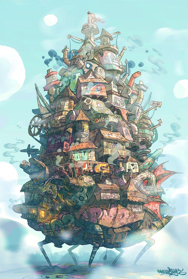"""Howl's Moving Castle (H-H)"" by Panchusfenix.deviantart.com #DeviantArt #Art"