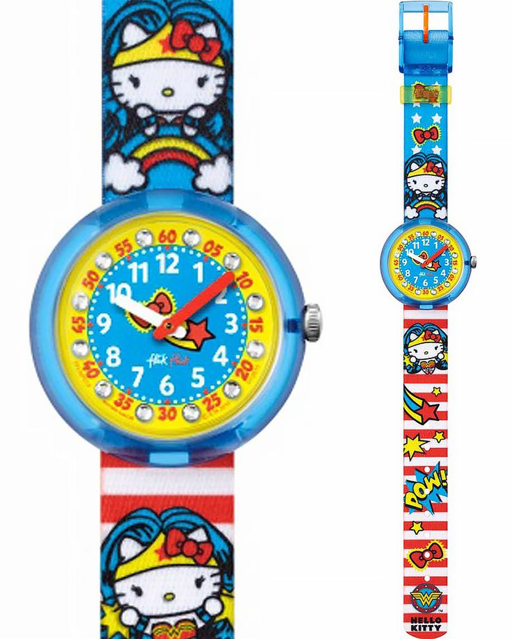 Ρολόι Flik Flak HELLO KITTY Wonder Woman ZFLNP018