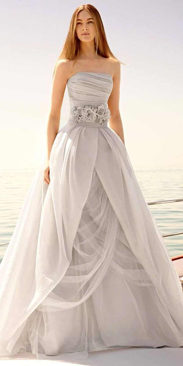 234 best gray for the wedding day images on pinterest for Vera wang gray wedding dress