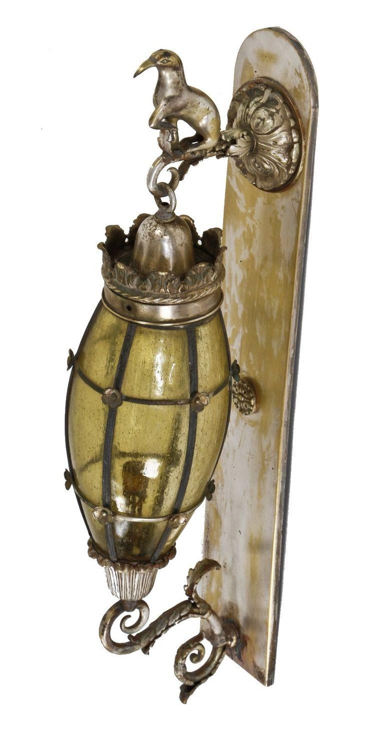 1920u0027s interior wall mount silver plated brass art 356