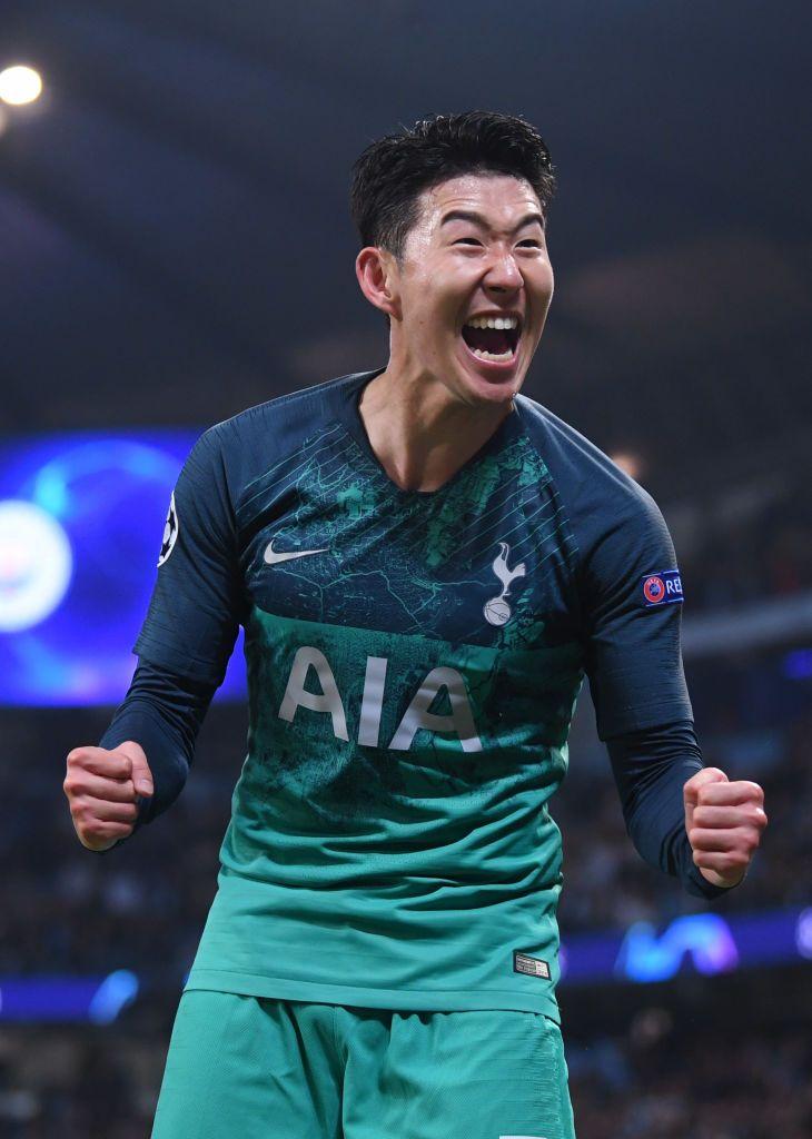 Heung Min Son Of Tottenham Hotspur Celebrates At The Full Time Tottenham Hotspur Tottenham Manchester United Team