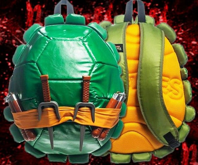 Carry around your crime fighting weapons and tools - or school supplies - in a half shell with the Ninja Turtles backpack. Whether you're preparing an attack on the Foot clan or just need to carry your textbooks around, the Ninja Turtles backpack is up for the job.