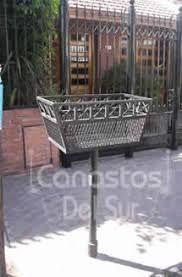 Resultado de imagen para Cesto Canasto Hierro Basura Separacion De Residuos Exterior