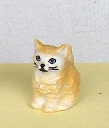 Small Pale Orange Color  Cat  Kitten  Figurine