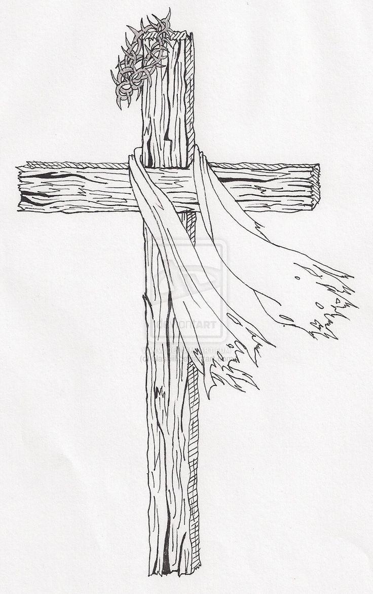 Crown Of Thorns Drawing : crown, thorns, drawing, Jesus