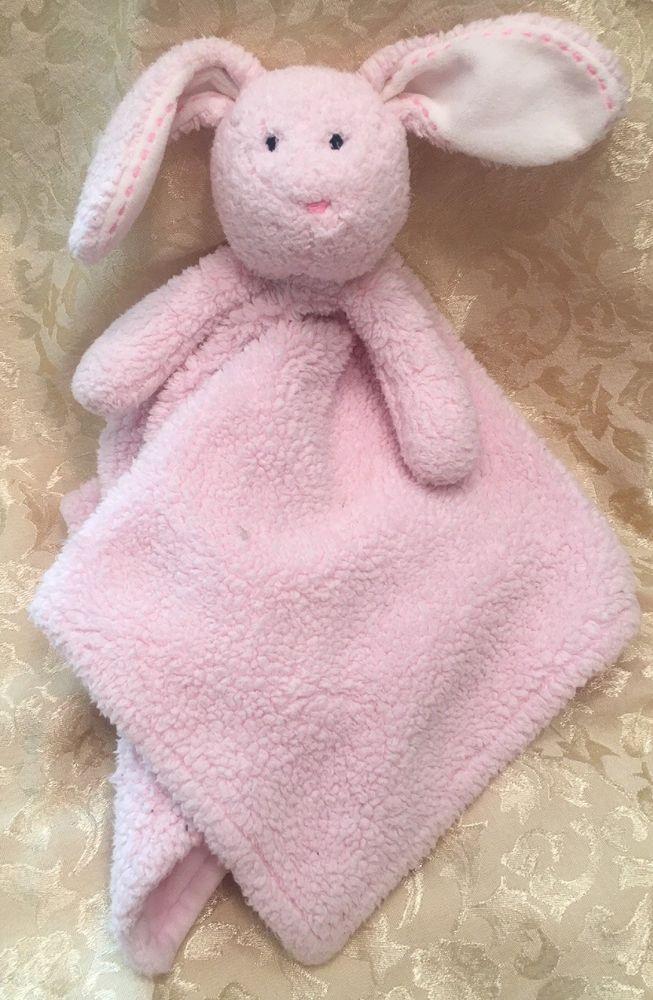 Rare Pbk Pottery Barn Kids Pink Bunny Rabbit Baby Security Blanket Lovey Fleece Hard To Find Blankets Pinterest