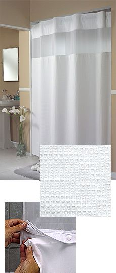 Mini Waffle Weave Hookless® Shower Curtain with Snap in Liner