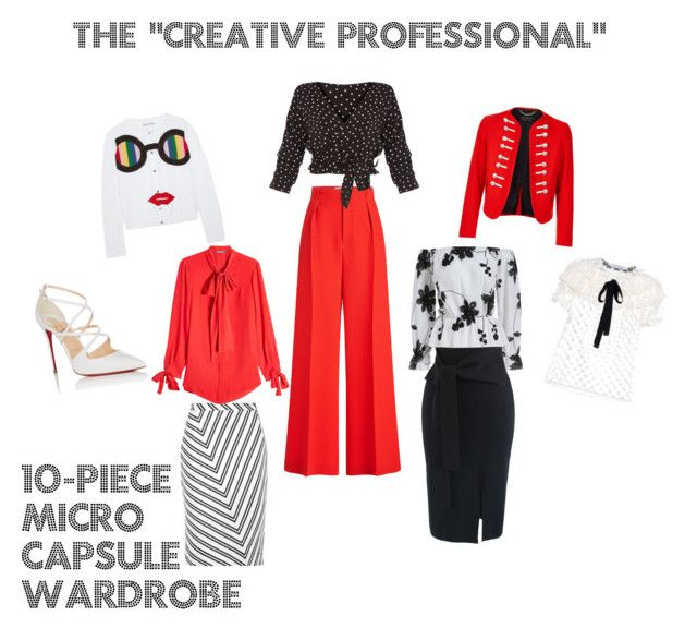 """""""Creative Professional"""" 10-Piece Micro Capsule Wardrobe by lesleyhudson on Polyvore featuring polyvore, fashion, style, Alexander McQueen, Alice + Olivia, Philosophy di Lorenzo Serafini, Roland Mouret, Chicwish, Altuzarra, Christian Louboutin, Burberry and clothing"""
