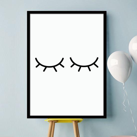 Αφίσα με κλειστά μάτια. Παιδικό δωμάτιο για τους λάτρεις του minimal! #paidikesafises #postersforkids #ματιακλειστα #eyesclosed