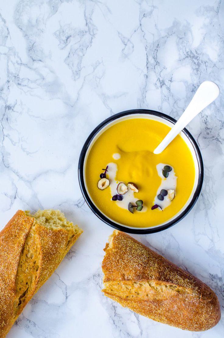 Möhrensuppe, gelbe Bete, Orangen und Zitronengras, Rezept gelbe Suppe, Rezept für eine Möhrensuppe mit Kokosmilch
