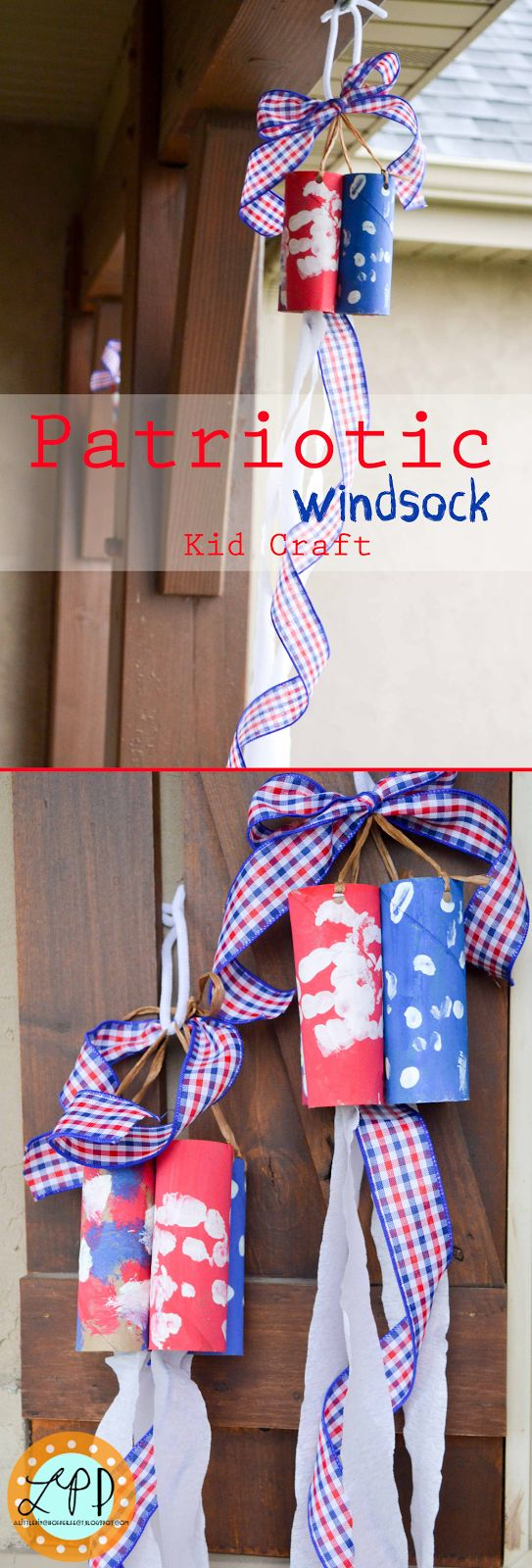 Cutest Patriotic Windsock Kid Craft!!!-4th of July, Flag Day, Memorial Day, Pioneer Day-made with toilet paper rolls