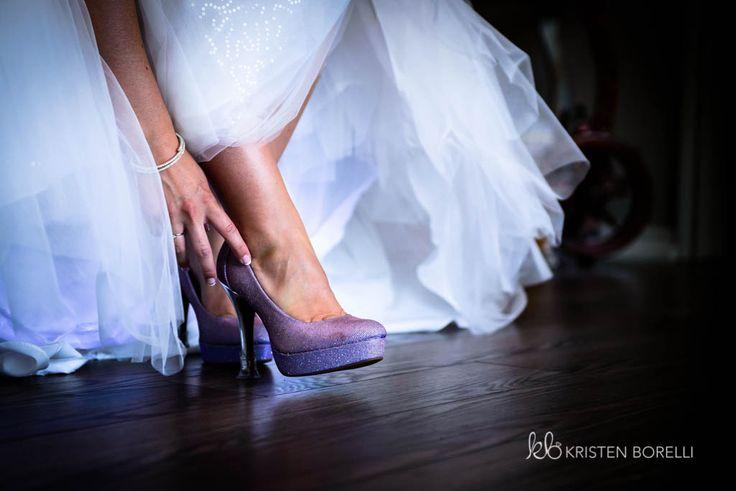 Sparkly purple wedding heels, wedding shoe photography   (Trillium Trails Raglan Ontario, Kristen Borelli Photography, Vancouver Island Wedding Photographer, Prince George Wedding Photographer, Nanaimo Wedding Photography, Victoria Wedding Photographer, Prince George Wedding Photography, Clarington Wedding Photographer)