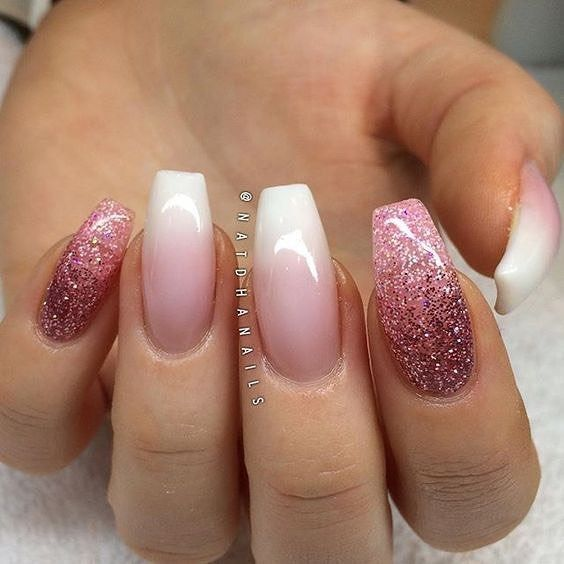 The color not the shape ~  Ombré pink nail art design ideas to try #nailartdesign