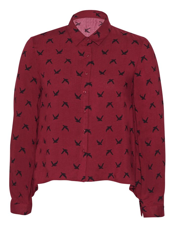 Boxy shirt with bird print for R199.99