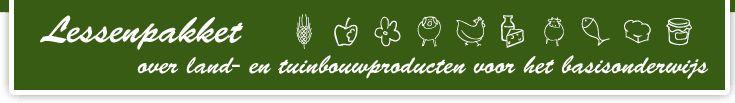 Lessenpakket aardappelen, bloemen, planten, brood, groenten, fruit, kip en ei, vlees, vis, zuivel,...