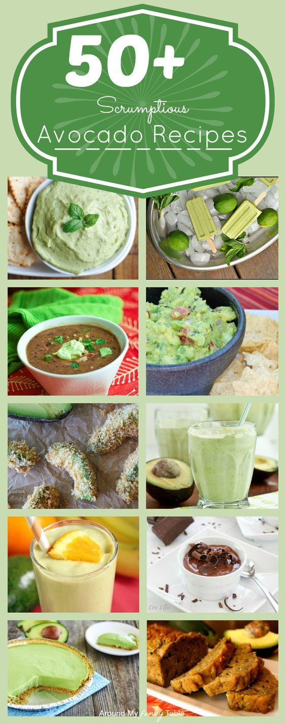 Beyond Guacamole....50  Scrumptious Avocado Recipes.  Who am I kidding?  Why don't I just have an I LOVE AVOCADO board? :)