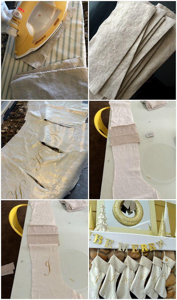 How to Make Christmas Stockings--DIY Tutorial from Tatertots and Jello #DIY #Christmas