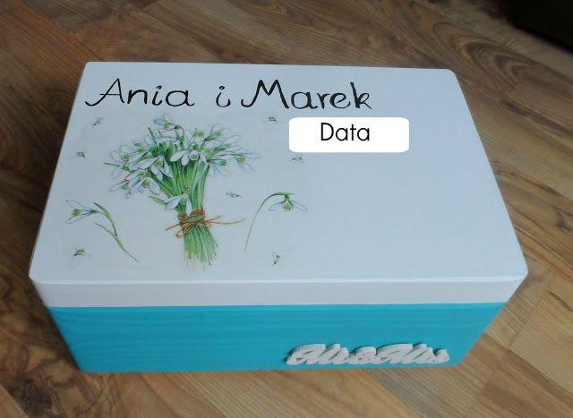 pudełko na wesele na kartki, koperty