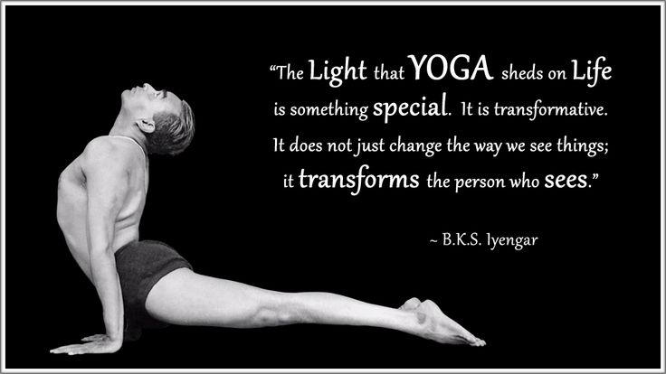 "BKS Iyengar yoga quote: ""The Light that YOGA sheds on Life is something special.  It is transformative. It does not change the way we see things; it transforms the person who sees."" .... .... #BKSIyengar #Inspirational #LifeQuote #YogaBenefits #YogaForAll #quoteoftheday"