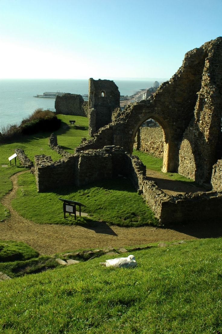 Hastings Castle, Sussex, UK    Built by William of Normandy from 1067
