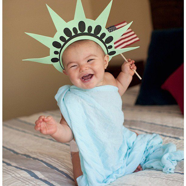 Pin for Later: This Little Girl's Halloween Costumes Could Not Be Any Cuter Lady Liberty