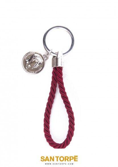 ANTIQUE RUBY KEY RING