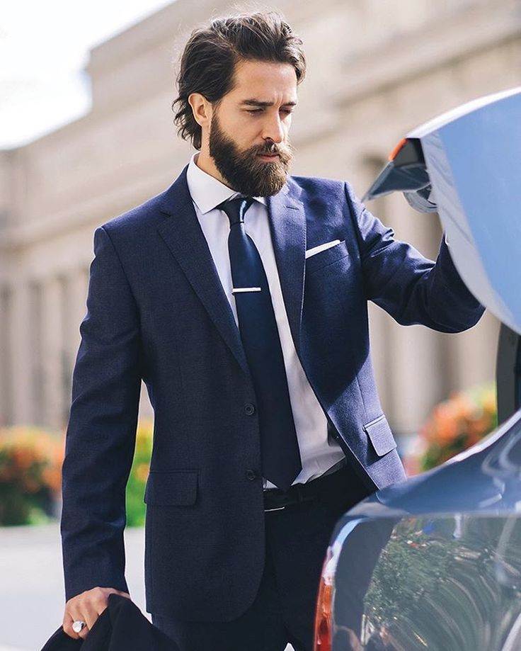 MeeKay - full thick dark beard beards bearded man men mens' style fashion suit dapper bearding #beardsforever