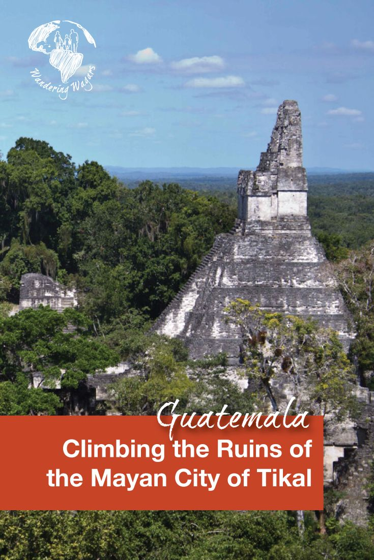 The Mayan city of Tikal in Guatemala has many ruins to visit and is one of the few places that still allow ruins to be climbed. Although the climb can be dizzying, the views from the top are simply amazing.
