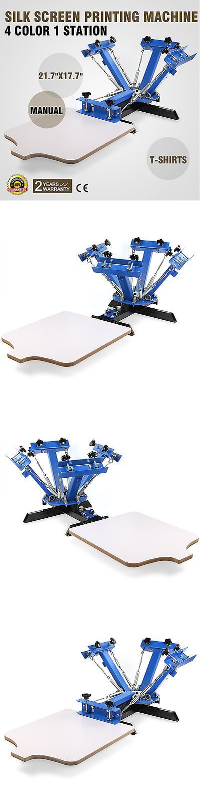 Screen Printing Sets and Kits 183116: 4 Color Screen Printing Press Machine Silk Screening Pressing Diy With 1 Station -> BUY IT NOW ONLY: $136.14 on eBay!