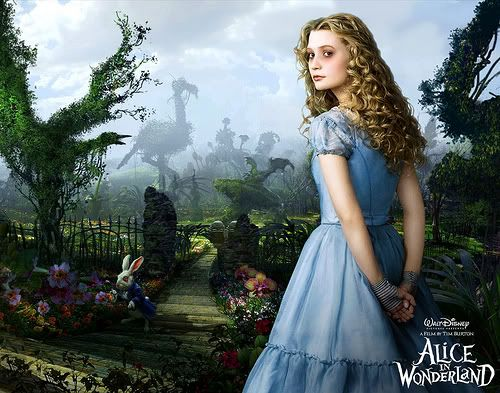 Tim Burton's Alice. I didn't like this as much as I could have since I'm an Alice fanatic and he put so much emphasis on the Hatter. Don't get me wrong, I love the Hatter. He just isn't AliceThings Alice, Costumes, Red, Burton Alice, Burton Movie, Alice In Wonderland, A Little Princesses, Inspiration Curls, Tim Burton