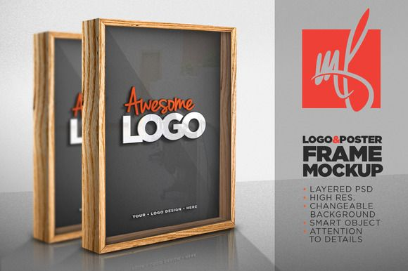Logo/Poster Frame Mockup by Mihai Frankfurt on Creative Market