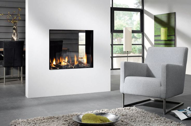 Double Sided Gas Fireplace: Warmer, Unique Room Divider, and Interior Accent | HomesFeed