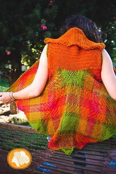 Colorful penguin wrap vest