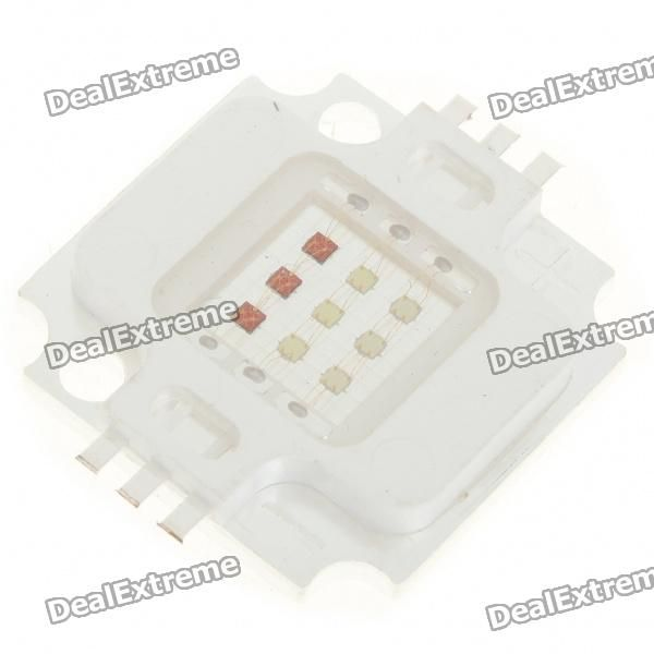 Material:: Red copper + silicone; Emitter Type:: RGB LED; Power:: 10W; Color BIN:: Colorful; Rated Voltage:: R-6-7.5V / G-9-11V / B-9-11V; Luminous Flux:: 450LM; Current:: 350mA; http://j.mp/1pglxm3