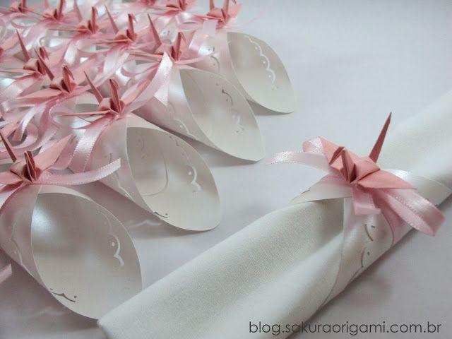 Lembrancinhas e decoração de casamento com tsuru e origami: Natália e Daniel - Sakura Origami Ateliê