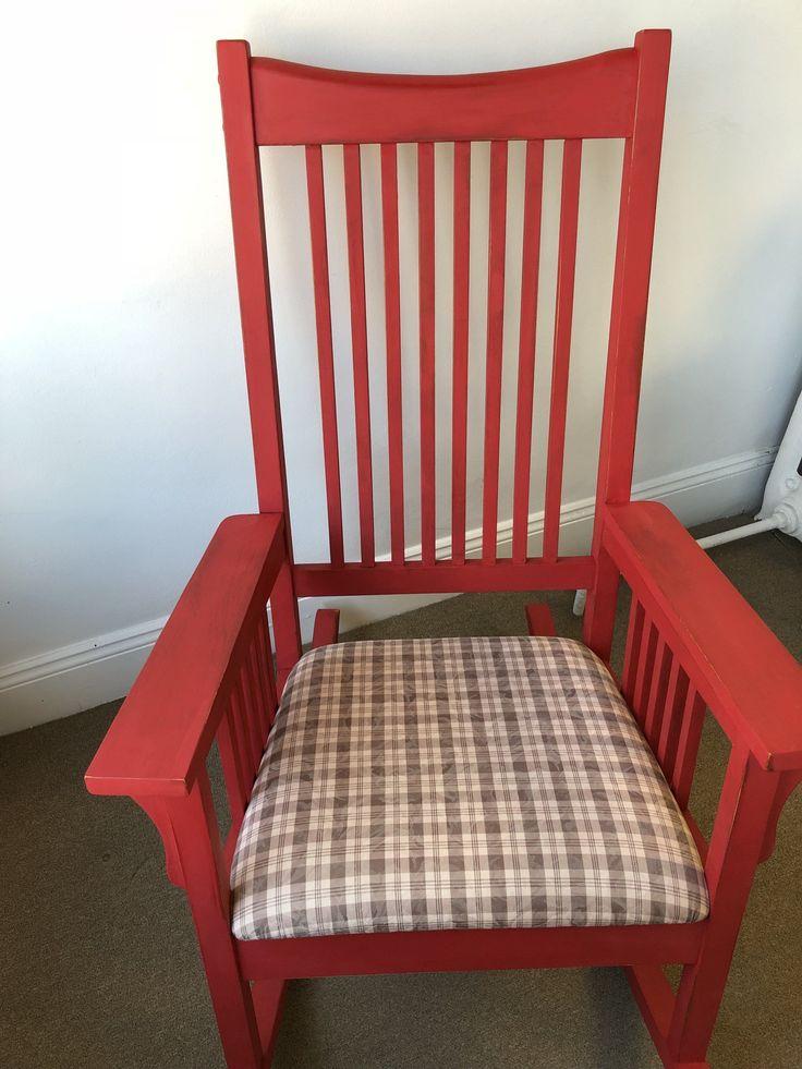Red Rocking Chair #RockingChair