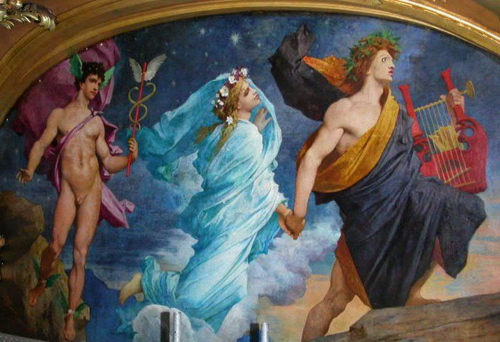 Jules Elie Delaunay - Orpheus and Eurydice. Tags: orpheus ...