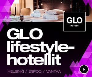 GLO lifestyle hotellit Helsinki, Espoo, Vantaa