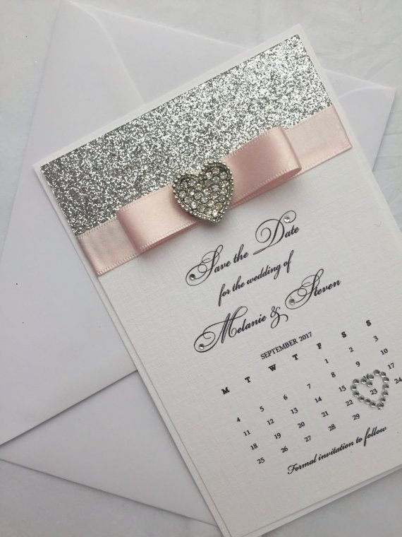 Personalised Calendar Save the Date, Handmade Wedding Stationery, wedding invite card, save the date