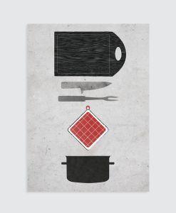 keuken (gerei) poster Homemade Poster