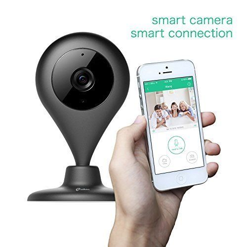 MiSafes 1280x720p HD C3031 Mini Wireless Surveillance Camera with Microphone Speaker with 2 Way Talk Remote Monitoring Motion Alert for iOS  Andriod App Black * For more information, visit image link.