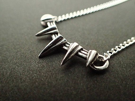 Marvel Black Panther Necklace Inspired Pure silver