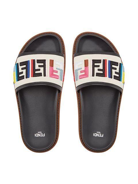 16117d06e2a Fendi FF logo slides | Walk A DAY IN MY SHOES | Fendi, Logos, Me too ...