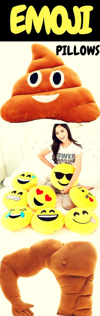 The best way to express yourself is through emojis! LOL, LMAO..... We got them all. The extremely popular poop pillow and even the all new boyfriend pillow. Shop our selection of emoji pillows today!