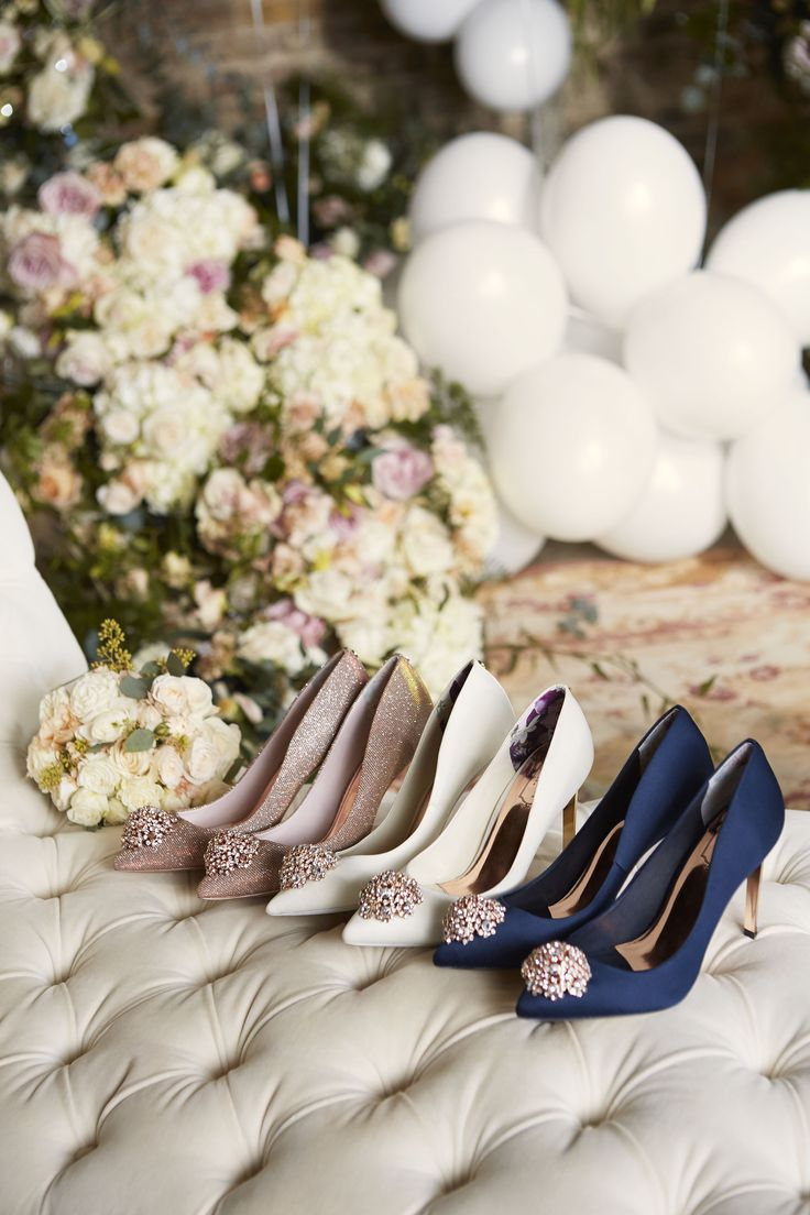 You don't have to match to be in unison. Ted's collection of bridesmaid appropriate shoes will make your walk up the aisle a stylish affair. #WedWithTed