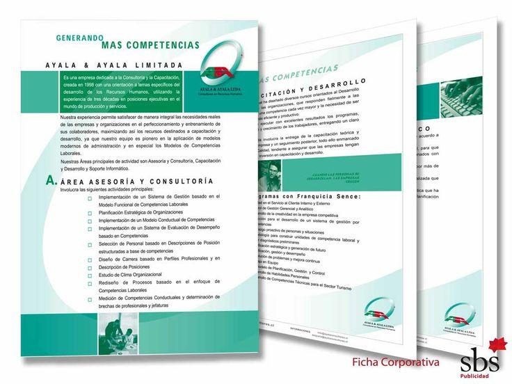 Laminas Corporativas sobre Asesorías y  Capacitaciones.
