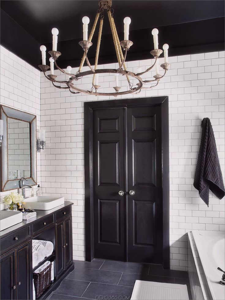 Die Besten Schwarzweiss-Badezimmer-Ideen, die nie aus jener Mode kommen